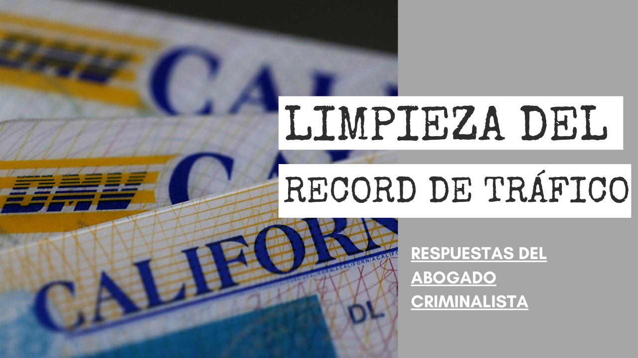 LIMPIEZA DEL RECORD DE TRÁFICO